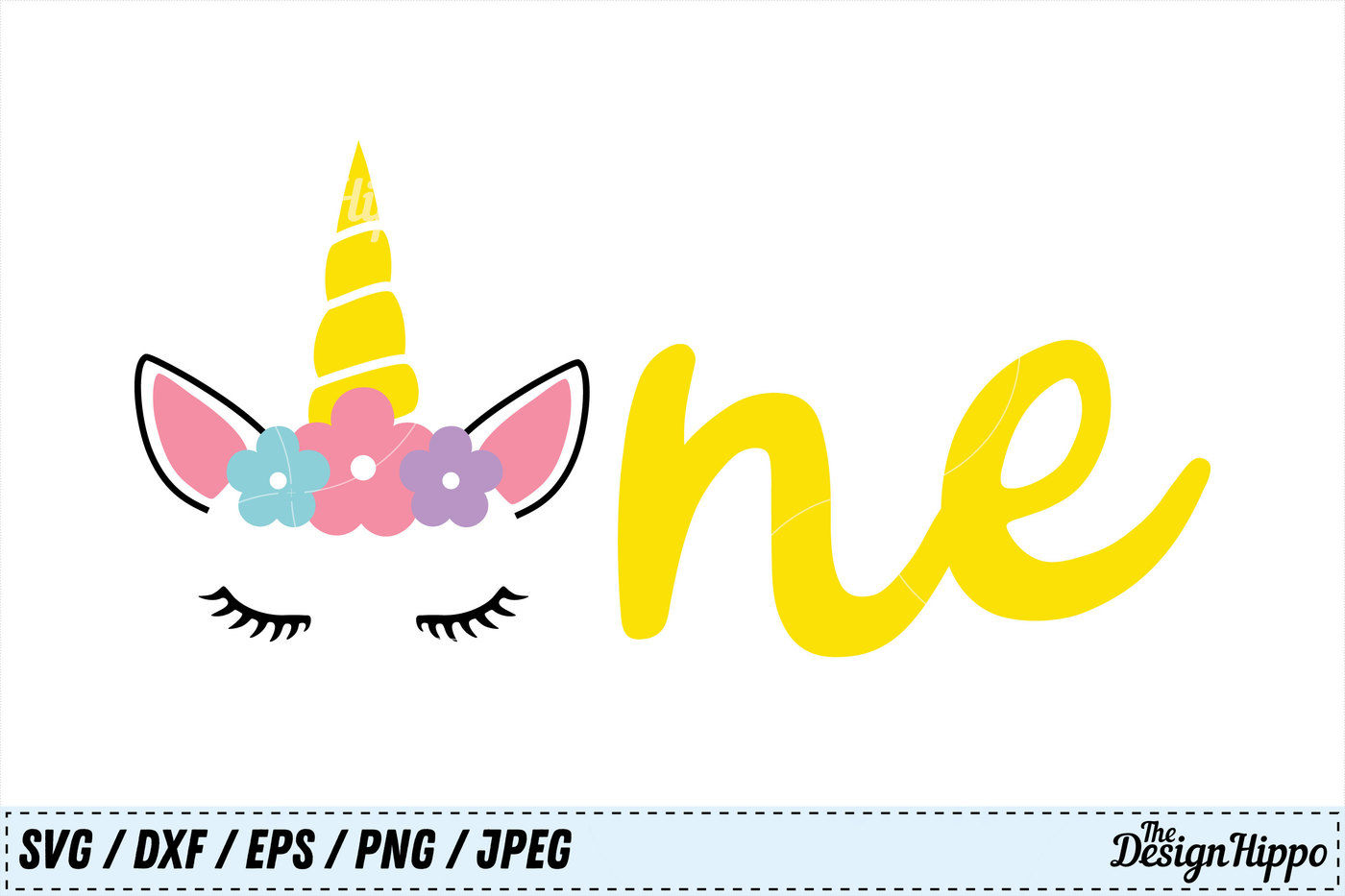 Unicorn Svg Birthday Svg One Png 1st Birthday Svg Dxf Cut