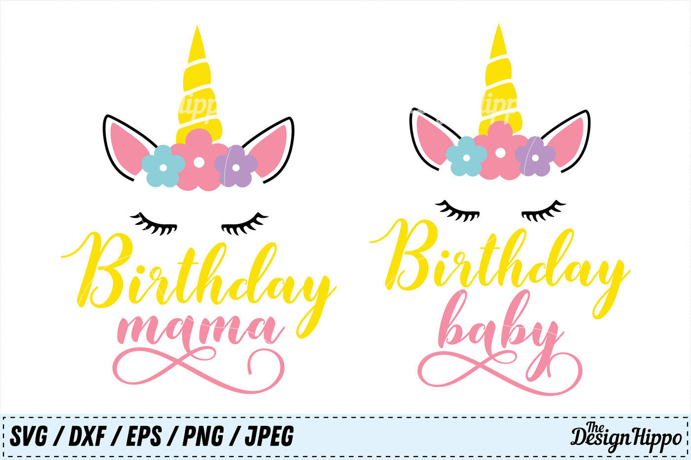 Birthday Svg Bundle Birthday Baby Svg Birthday Mama Svg Unicorn