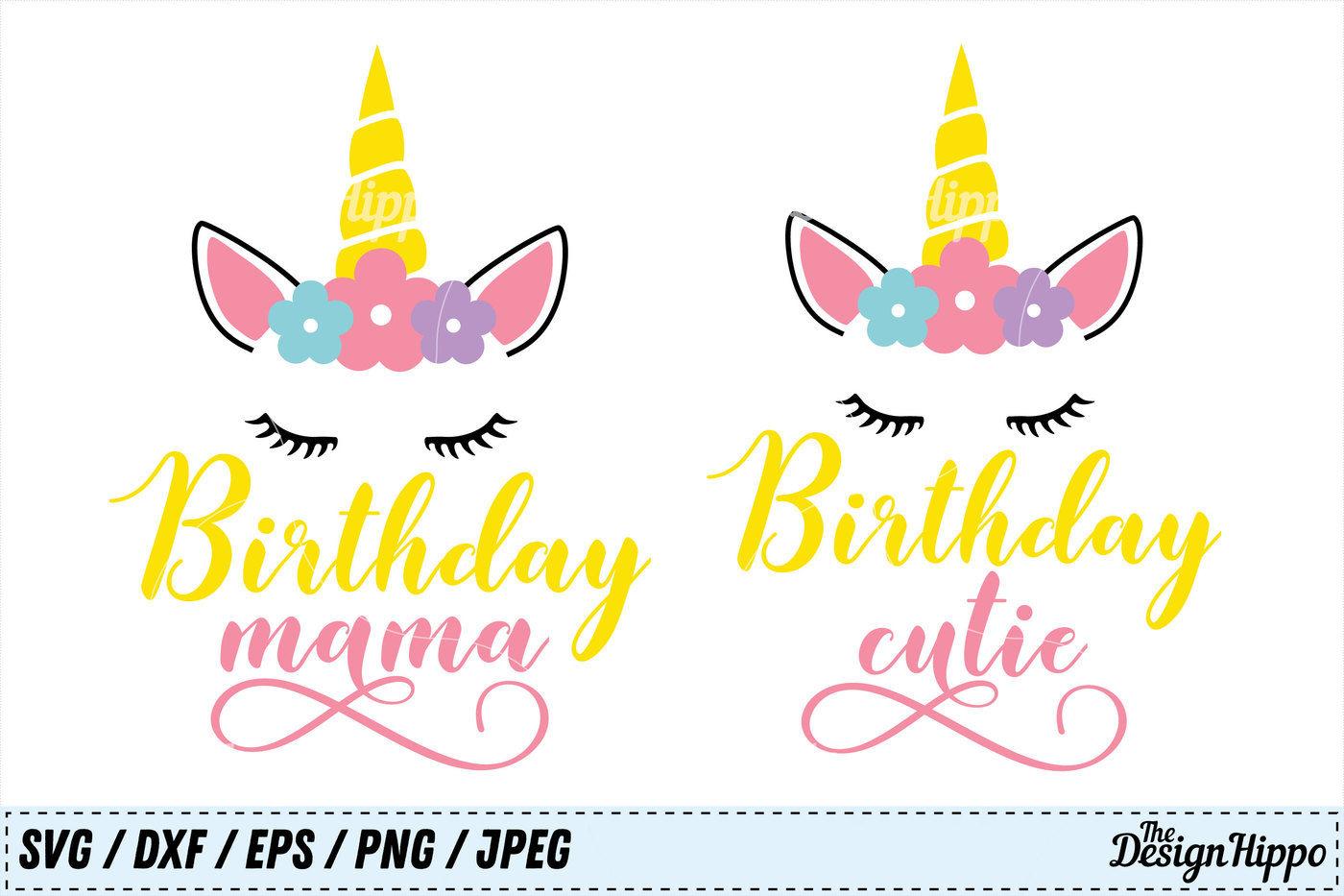 Birthday Svg Bundle Birthday Mama Svg Birthday Cutie Svg