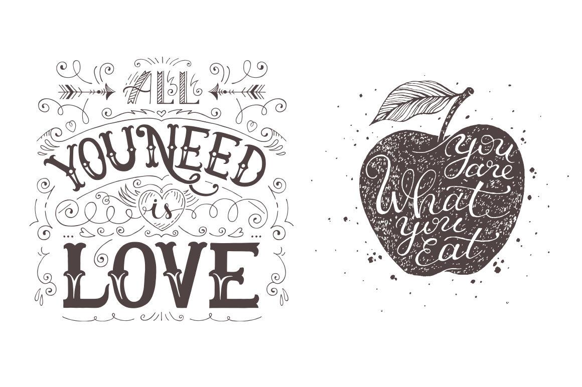 8 Hand Drawn Inspirational Quotes By Kandrashova Art