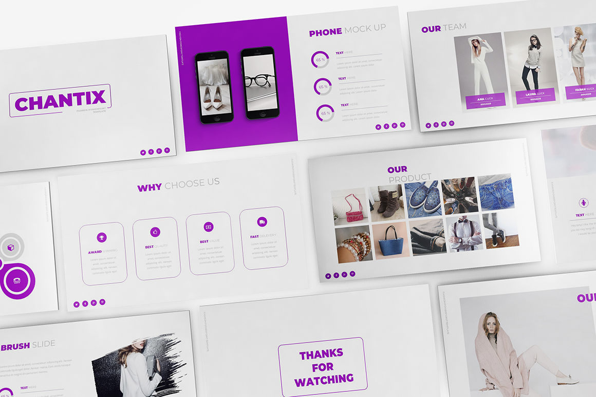 Fashion Google Slides Template By Incoolsstokie | TheHungryJPEG com