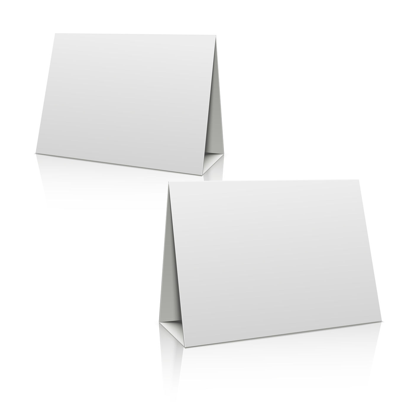 Blank white paper stand table holder card. 21D vector design Throughout Card Stand Template