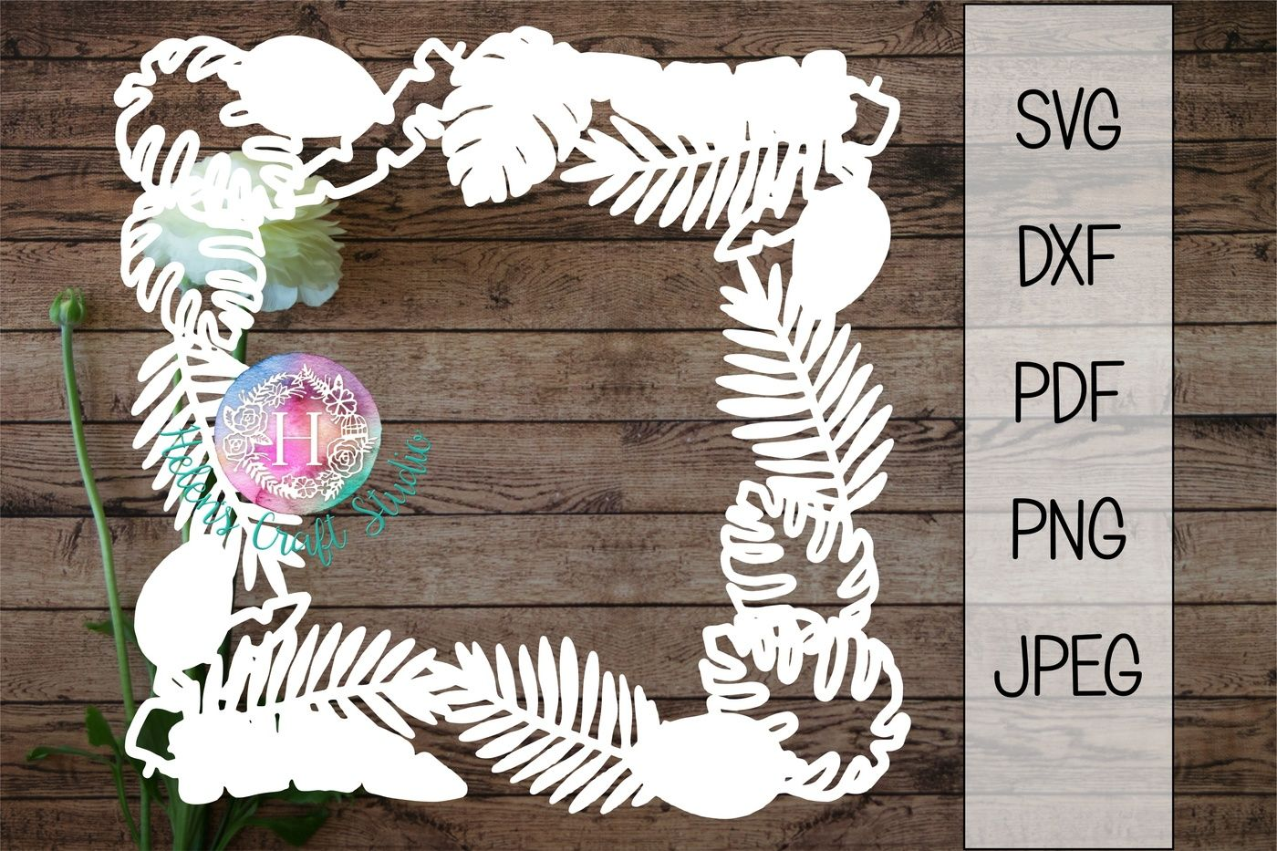 Tropical Leaves Frame Svg Dxf Png Pdf And Jpeg Cutting File By Helens Craft Studio Thehungryjpeg Com Download transparent tropical leaves png for free on pngkey.com. tropical leaves frame svg dxf png pdf