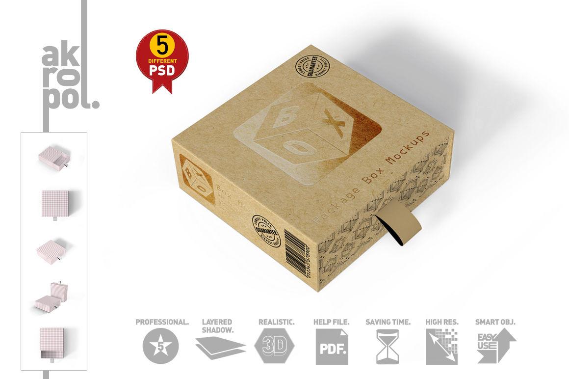 3d Box Mockup Psd Free Download