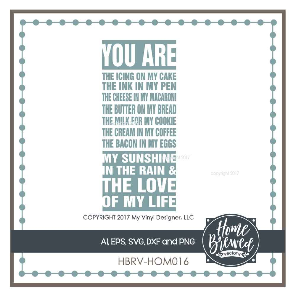 You Are The Love Of My Life Svg Cut File By My Vinyl Designer
