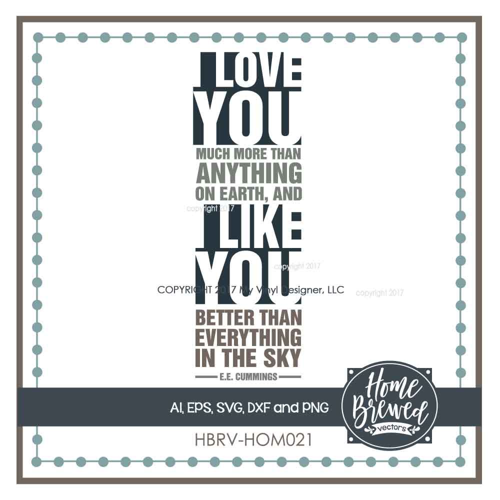 I Love You I Like You Svg Cut File By My Vinyl Designer