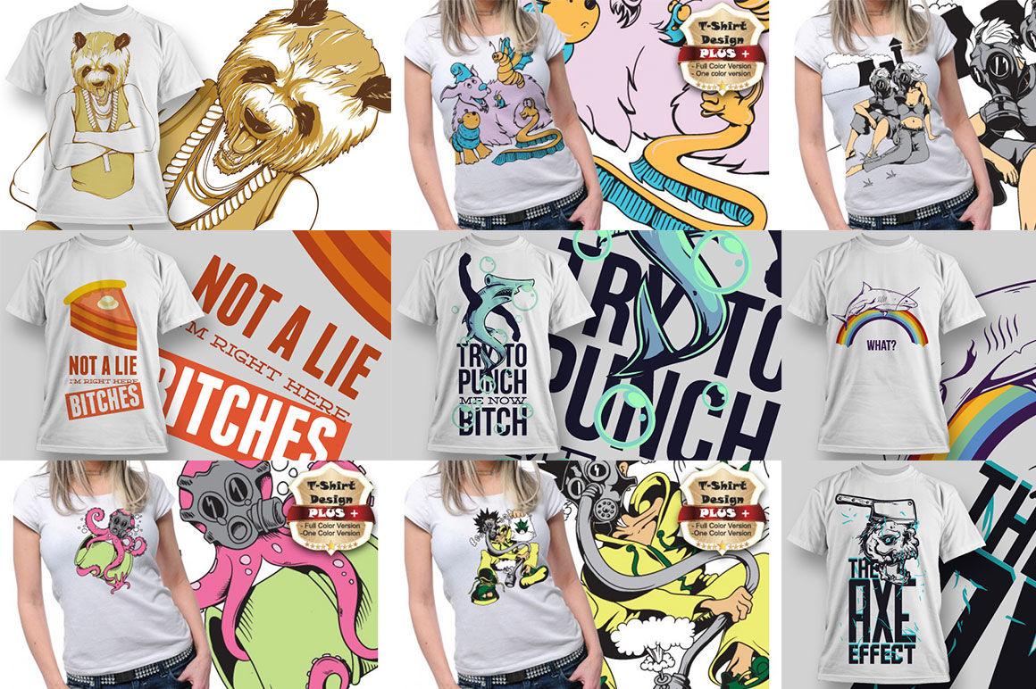 700 Vector Tshirt Designs Bundles By profactional | TheHungryJPEG com