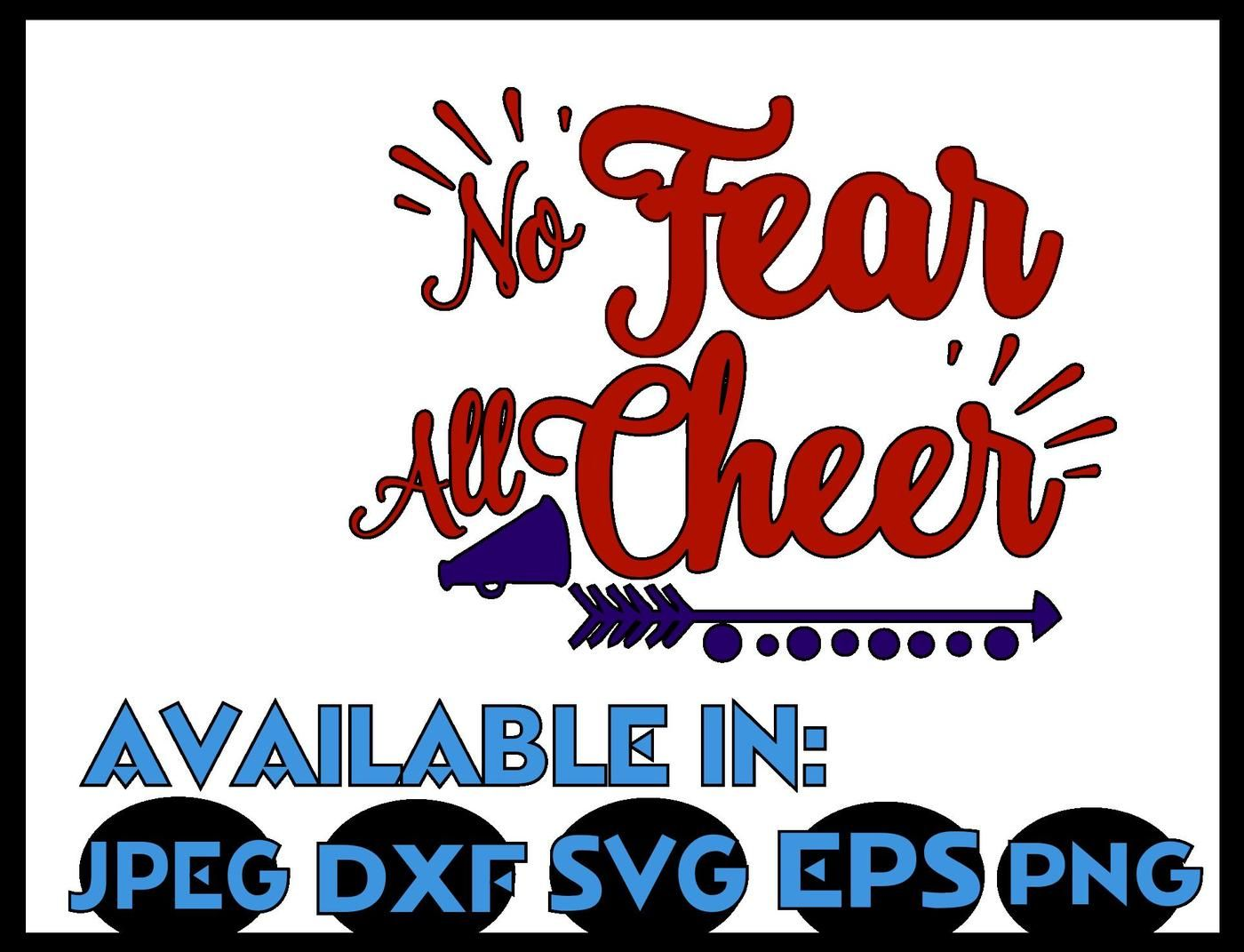 Cheer Svg Dxf Jpeg Silhouette Cameo Cricut Cheerleader Iron On No