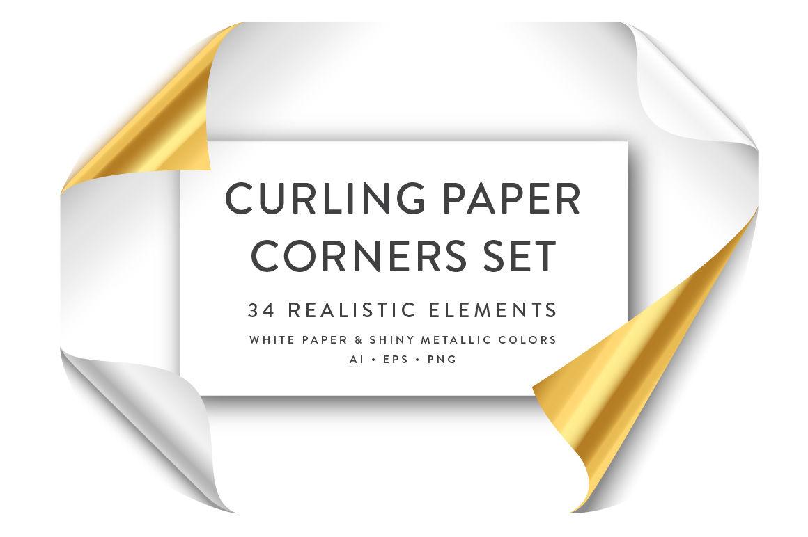 Curling Paper Corner Folds Set By Giraphics Design Thehungryjpeg Com