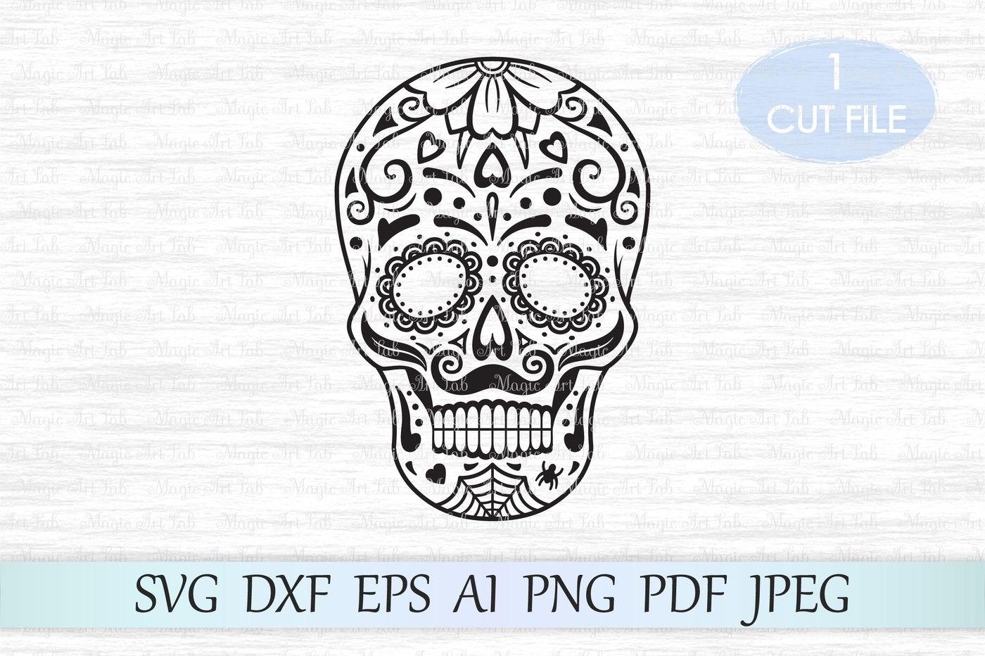 Sugar Skull Svg Halloween Svg Day Of The Dead Svg Candy Skull
