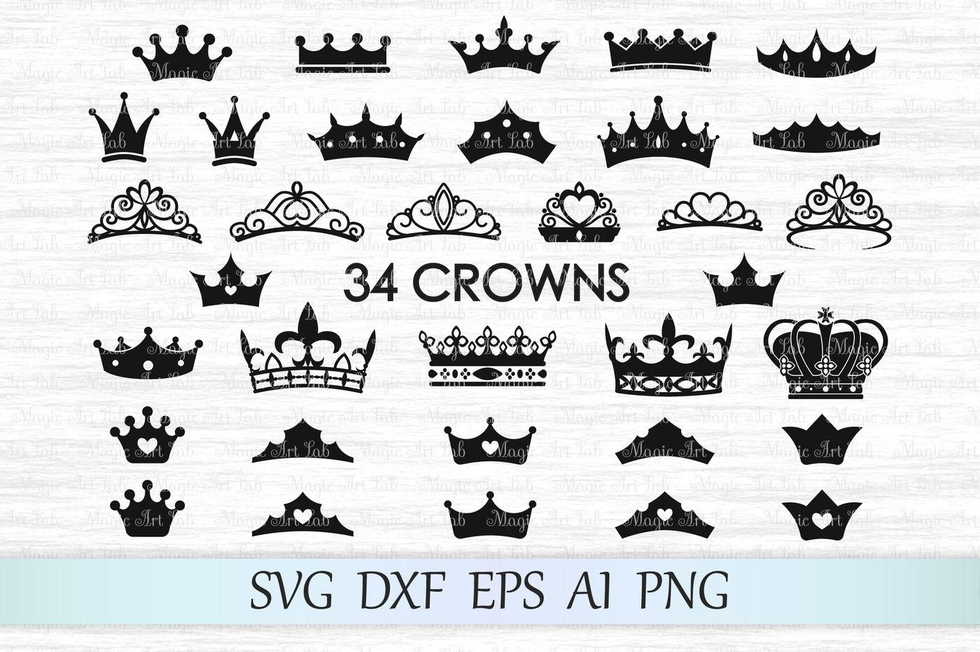 Crown Svg Princess Crown Svg King Crown Svg Crown Clipart By