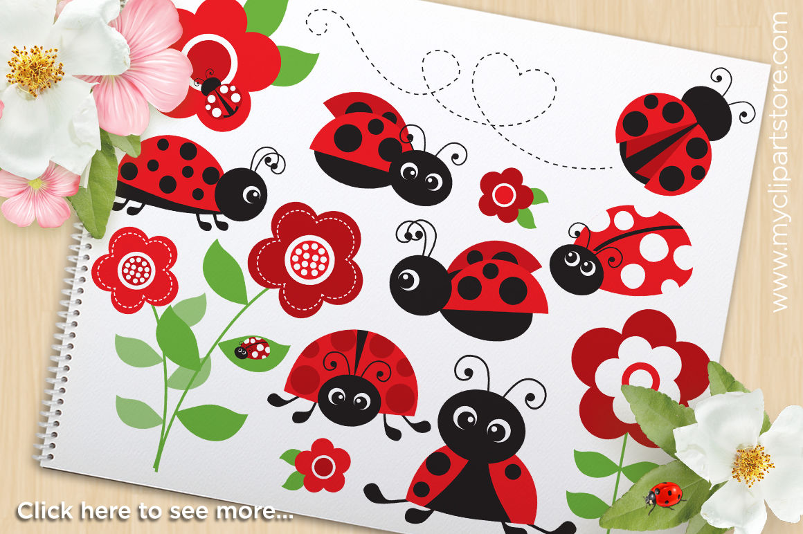 Ladybug Garden Red Vector Svg Clipart By Myclipartstore
