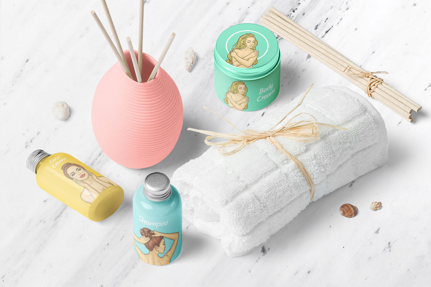 Shampoo Mockup Free