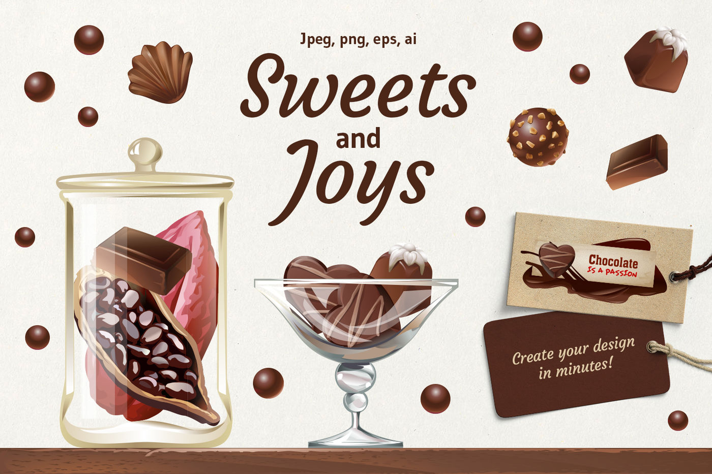 Chocolate Sweets By Vectorpocket Thehungryjpeg Com