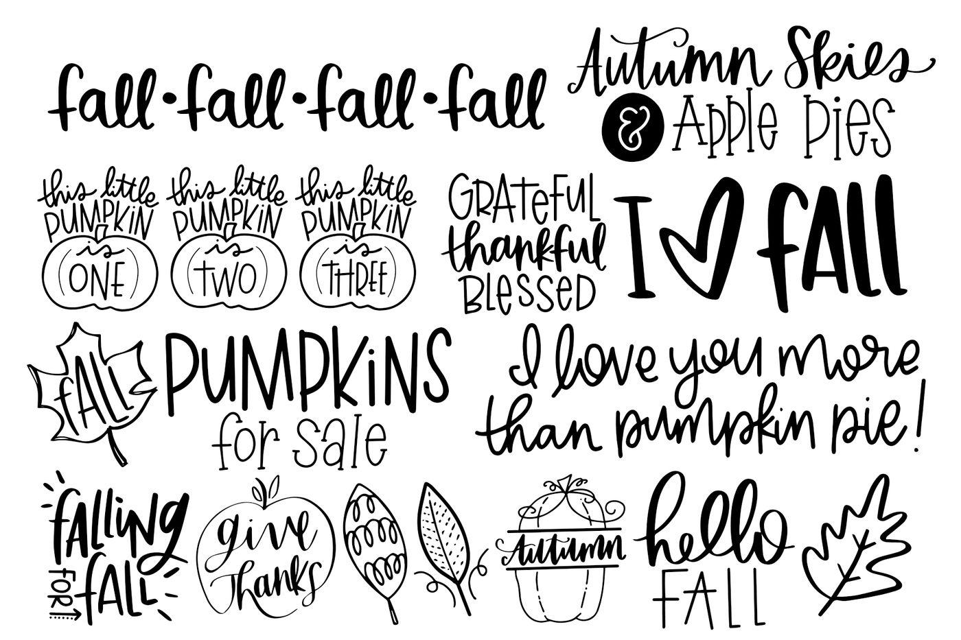 Fall Phrases Symbol Font By Dansie Design Thehungryjpeg Com