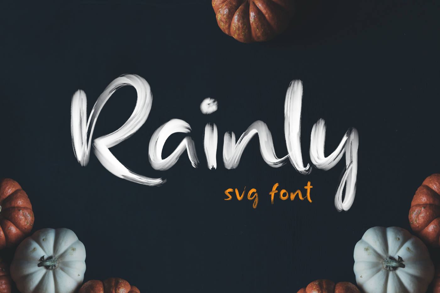 Rainly Brush Svg Font By Craft Supply Co Thehungryjpeg Com