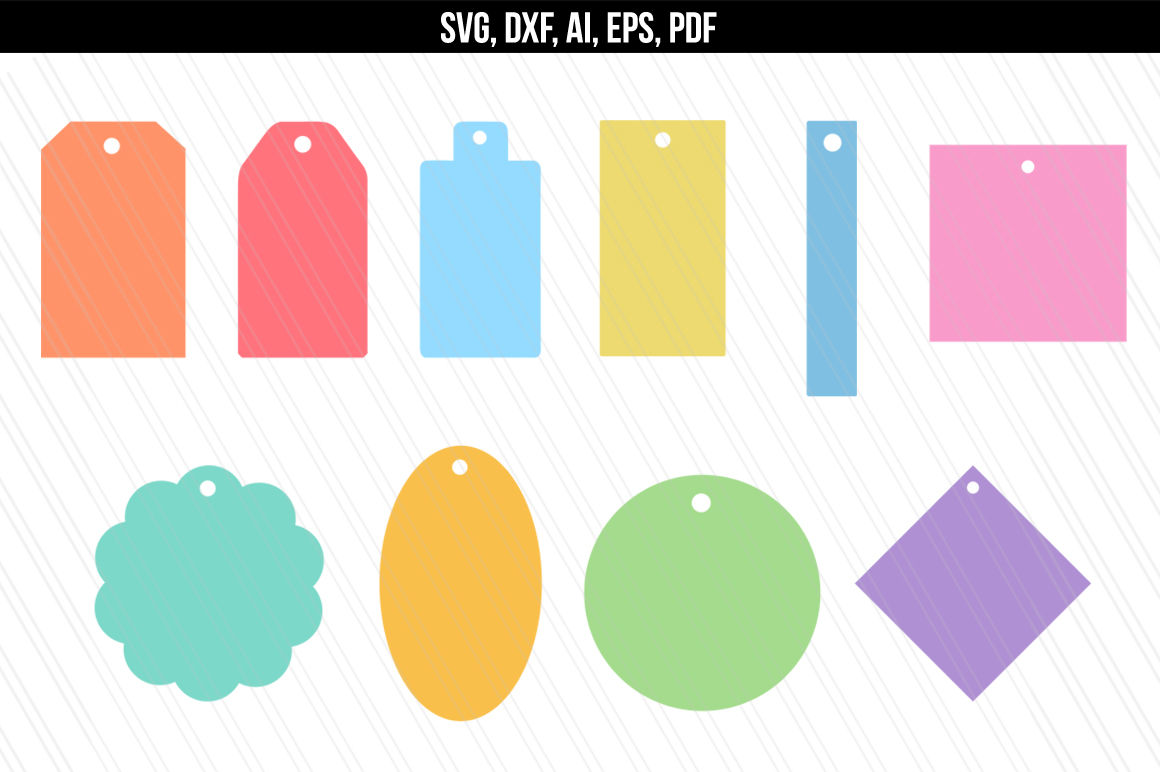 Gift Tags Svg Cutting Files Dxf Name Tags Name Tags Svg By