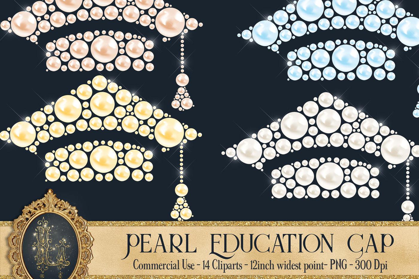 14 Pearl Education Cap Digital Clip Arts Pearl Graduation By