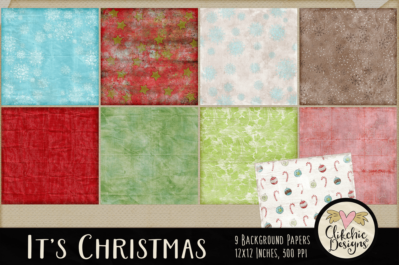 It S Christmas Background Paper Textures By Clikchic Designs