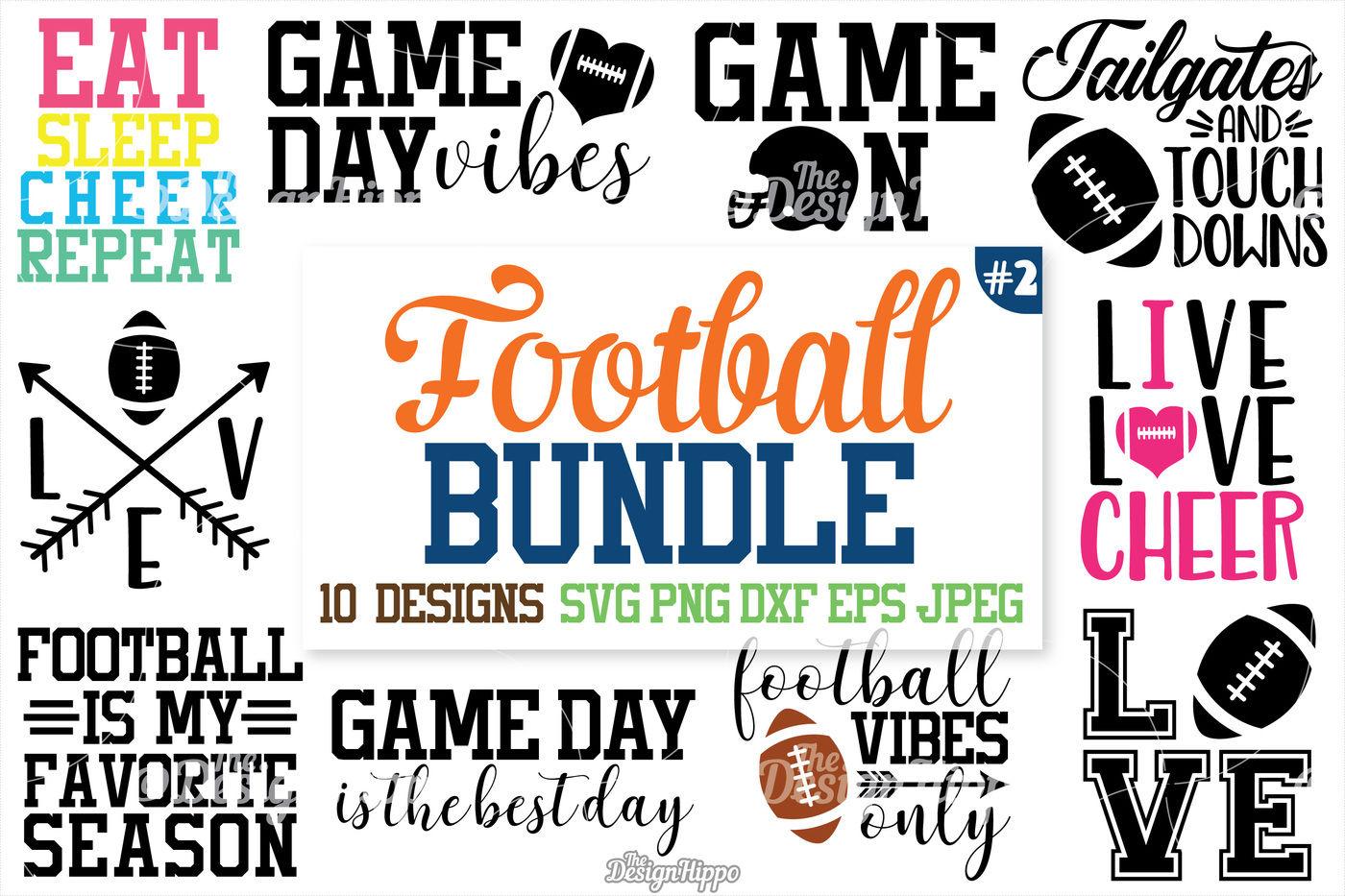 Football Svg Bundle Football Bundle Svg Png Cutting Files