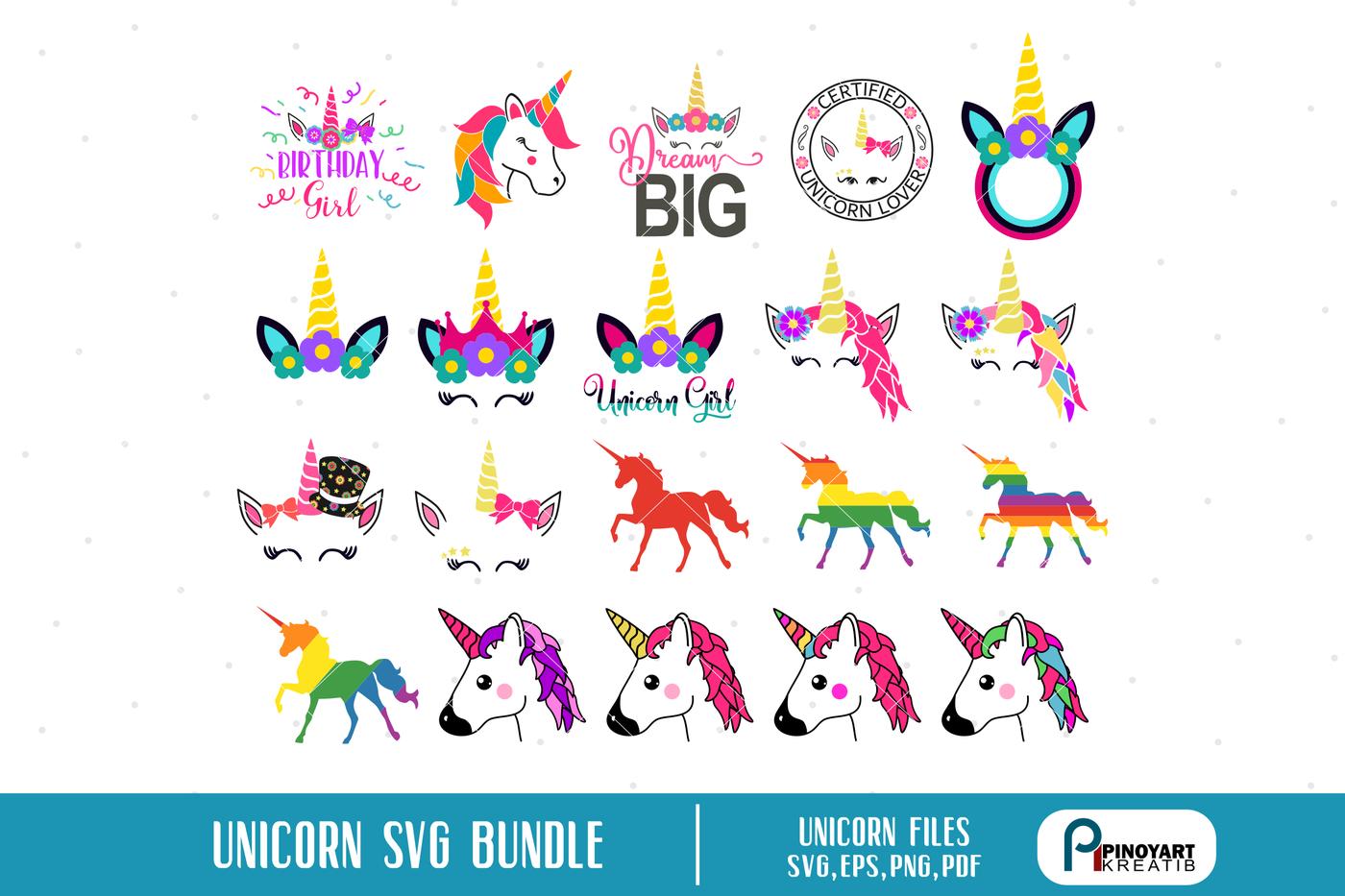 Unicorn Svg Bundle Unicorn Svg Unicorn Graphics Unicorn Svg