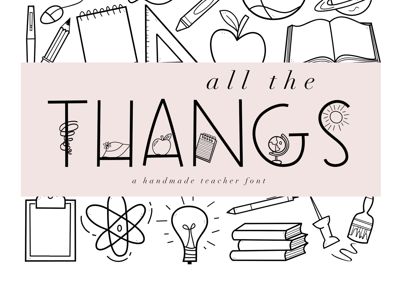 All The Thangs A Handmade Doodle Letter Font By Ka Designs