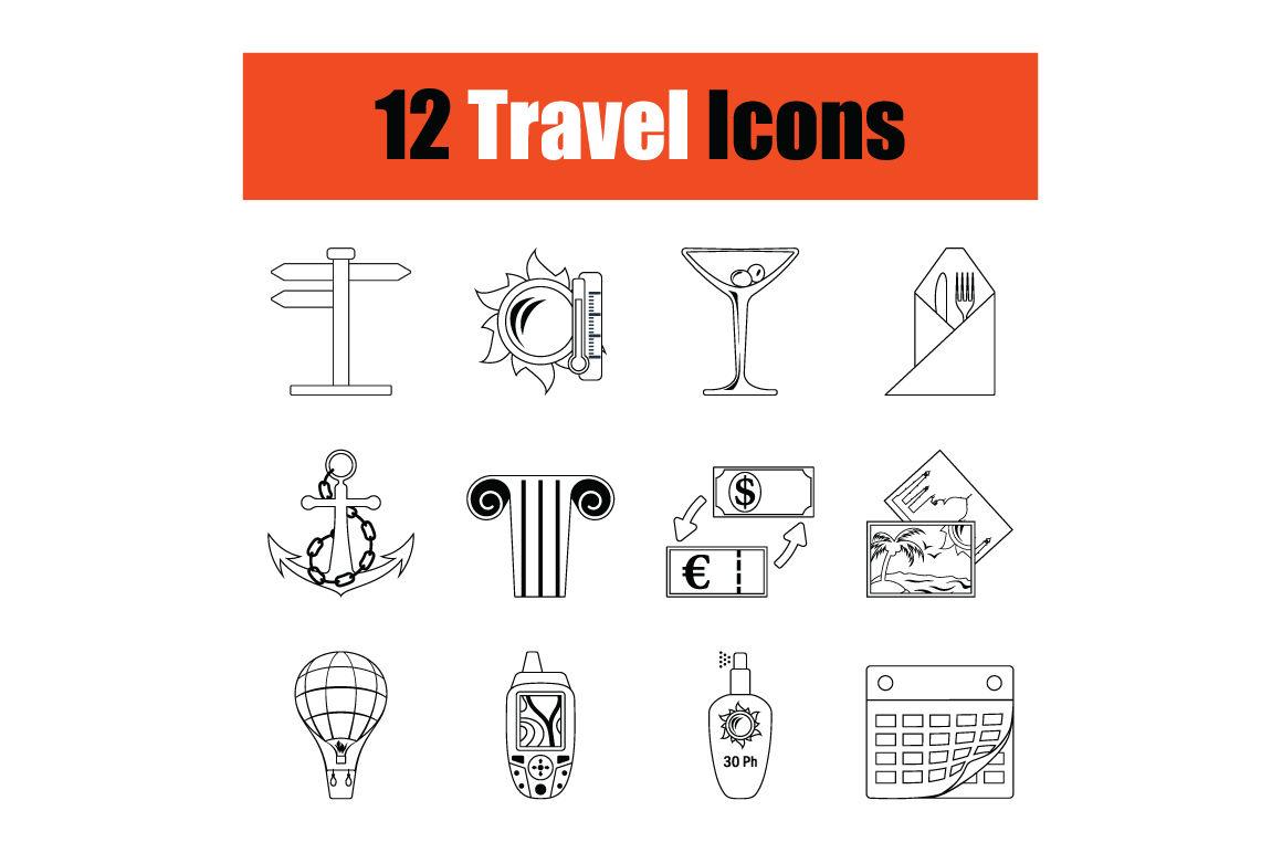 Travel Icon Set By Angelp Thehungryjpeg Com
