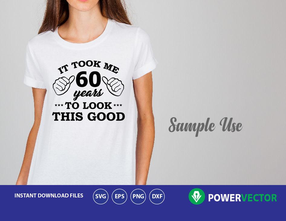 60th Birthday Vinyl T Shirt Design