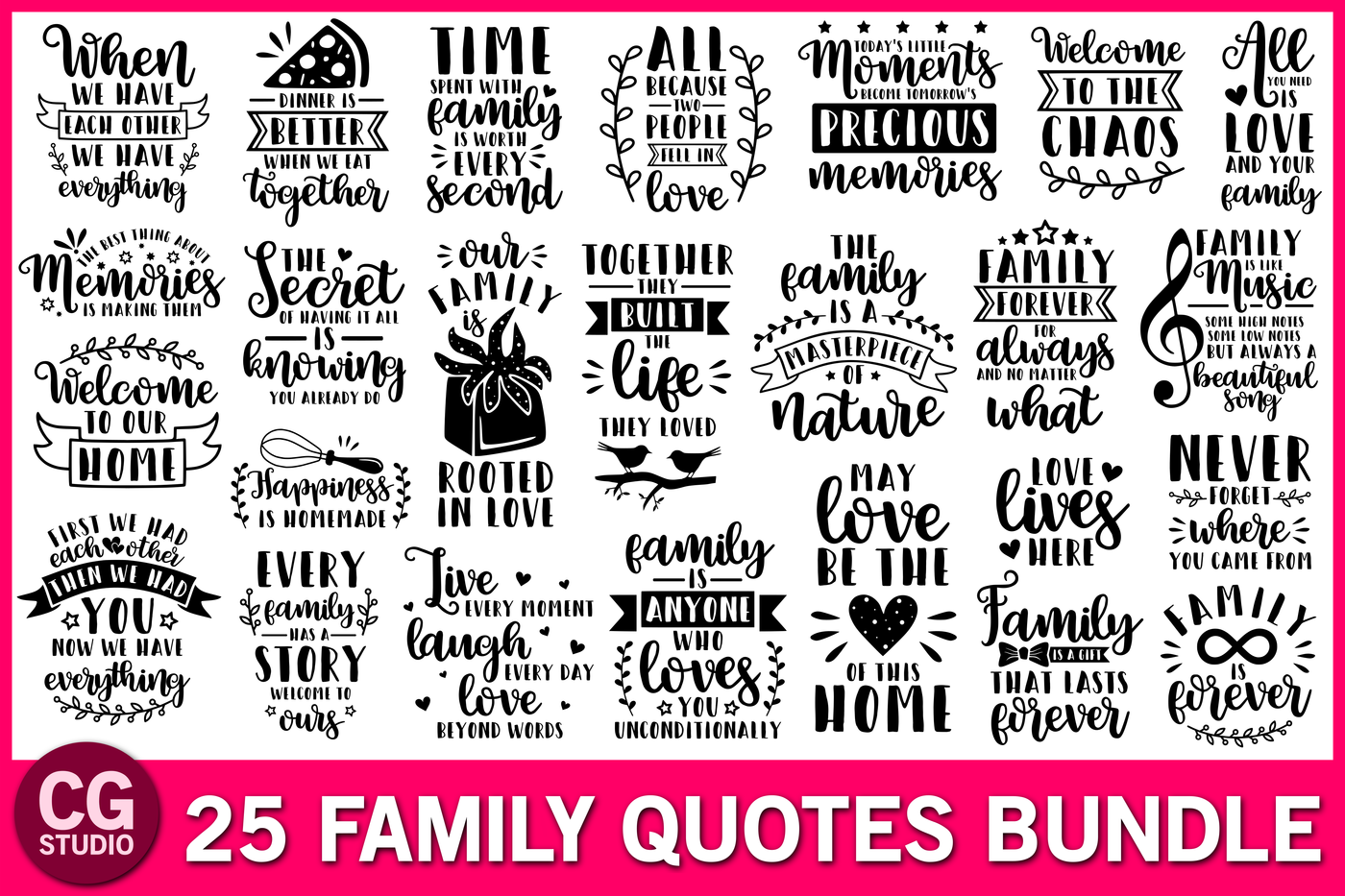 Family Quotes Svg Bundle By Crystalgiftsstudio Thehungryjpeg Com