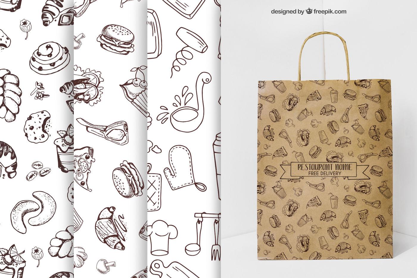 Restaurant Menu 430 Vector Food Icons By Watercolor Arts
