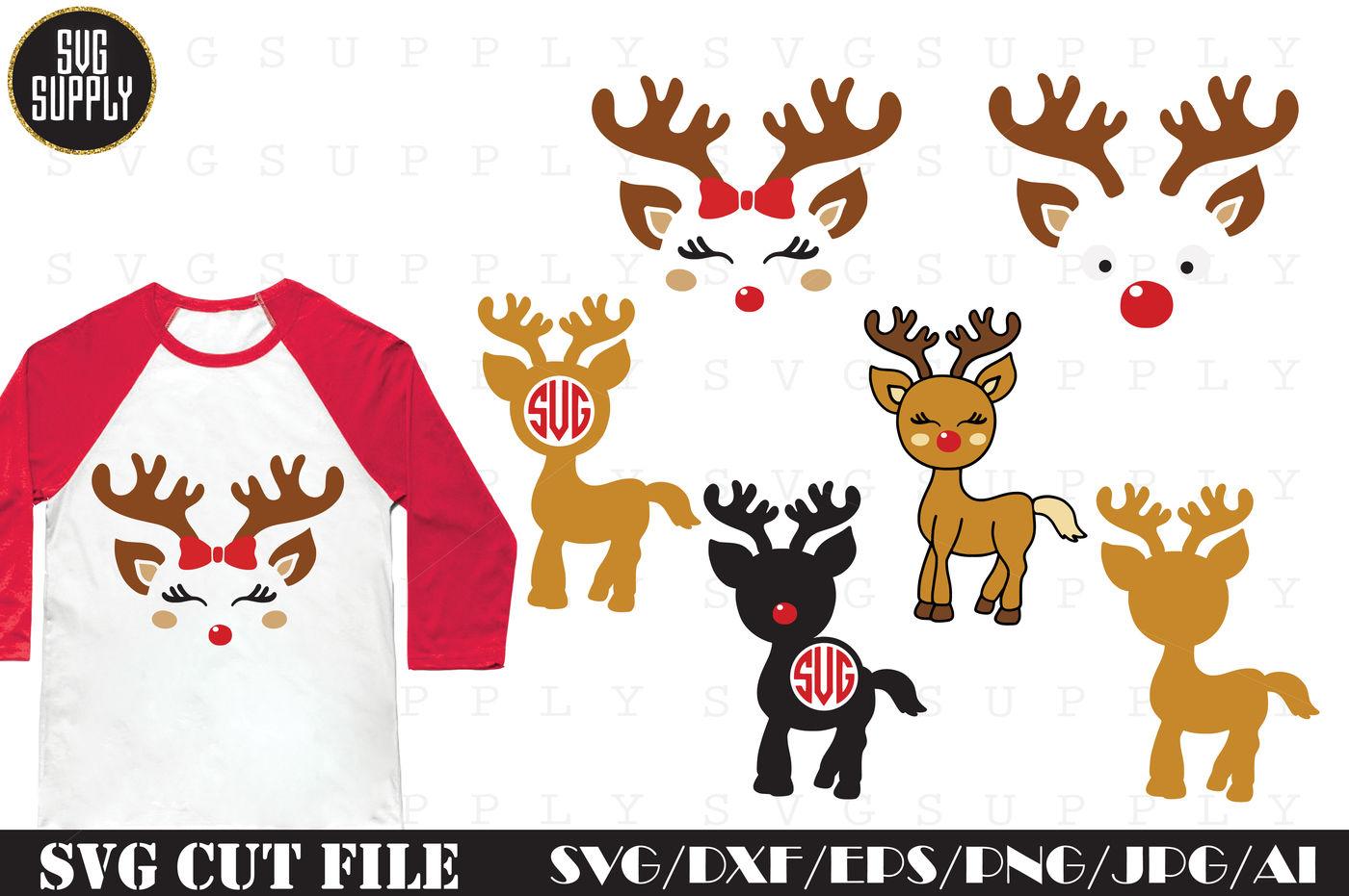 Christmas Reindeer Svg Cut File By Svgsupply Thehungryjpeg Com