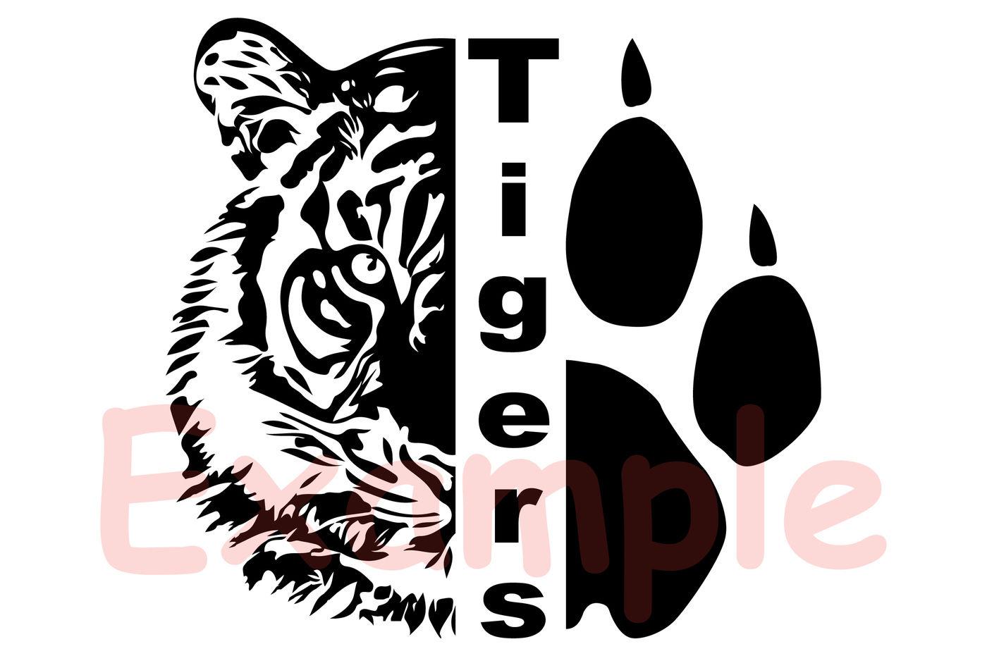 Tigers Head Svg Wild Football Baseball Basketball Soccer 948s By