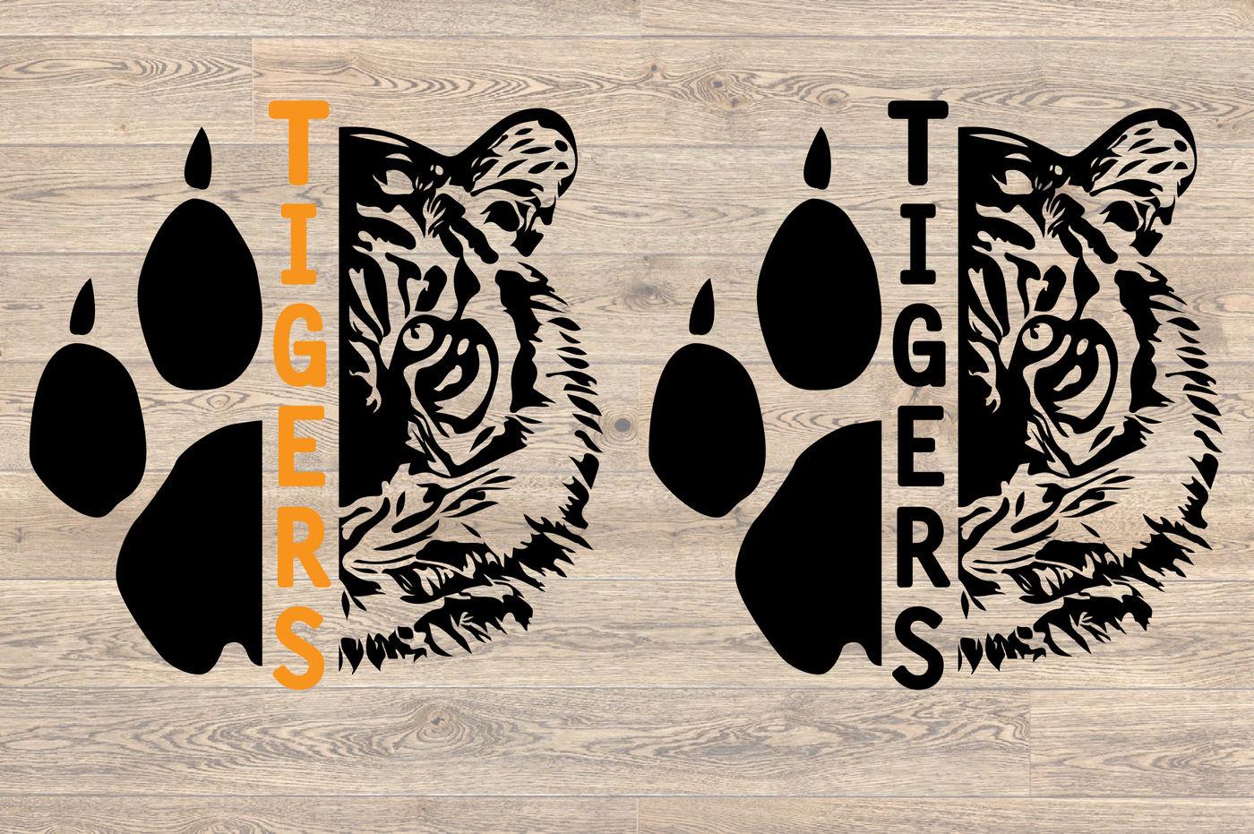 Tigers Head Svg Wild Football Baseball Basketball Soccer 949s By