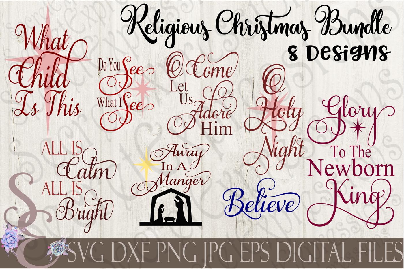 Religious Christmas Svg Bundle 8 Designs By Secretexpressionssvg