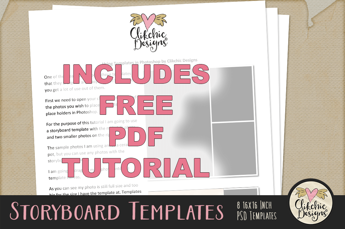Storyboard Layered Photoshop Templates By Clikchic Designs