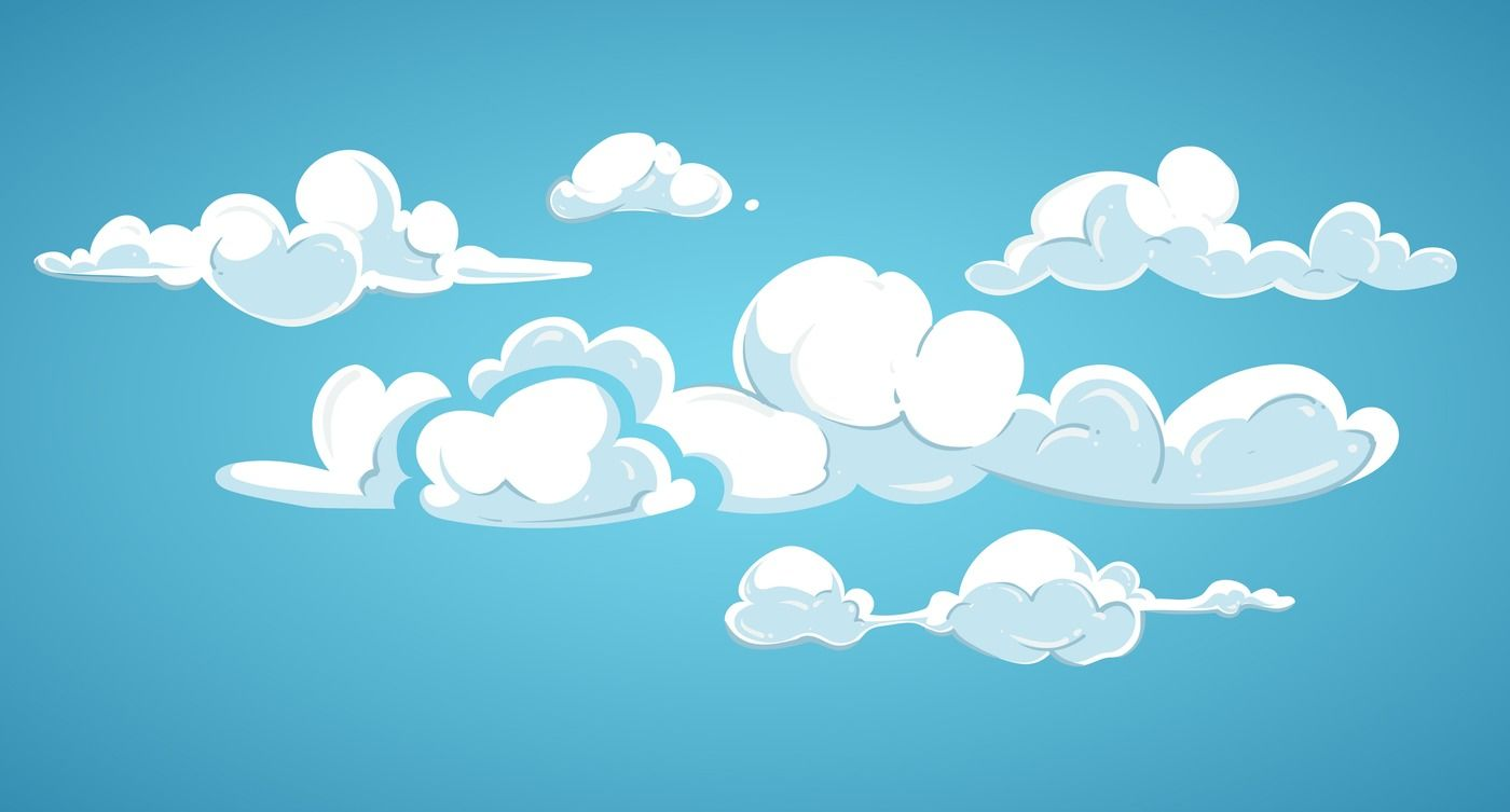 Blue sky and white clouds vector illustration By Microvector