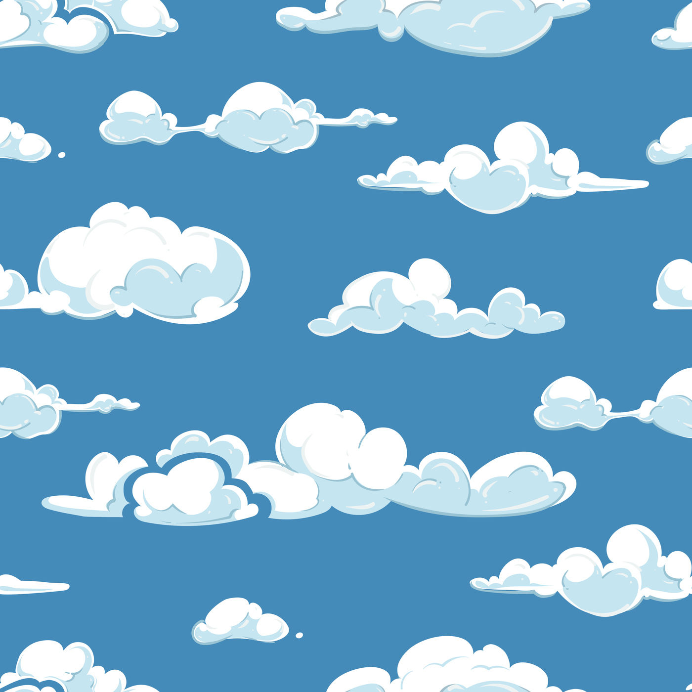 Vector clouds weather seamless pattern By Microvector