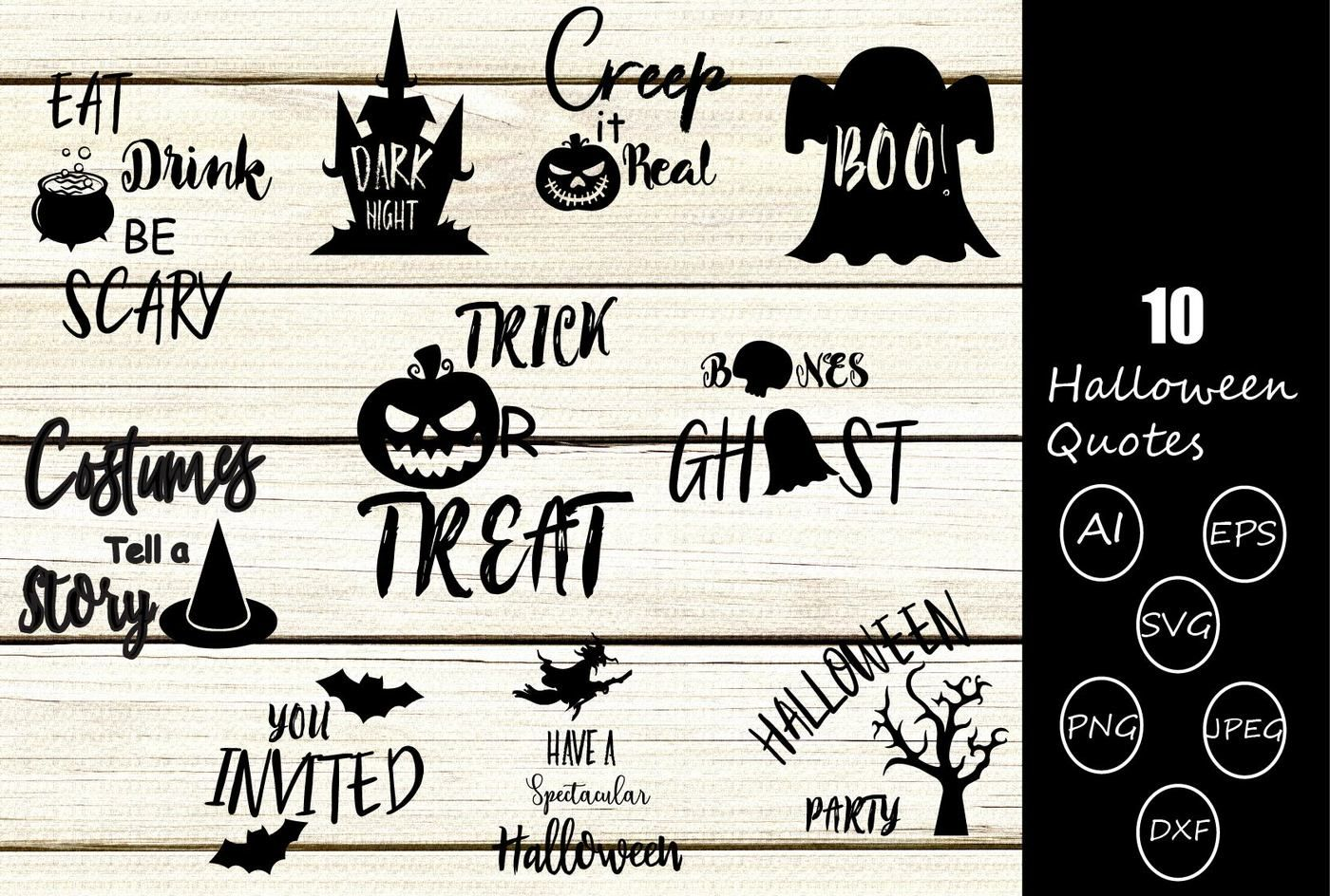 Halloween Quotes Svg.Halloween Quotes Svg Cutting Files By Yamini Thehungryjpeg Com