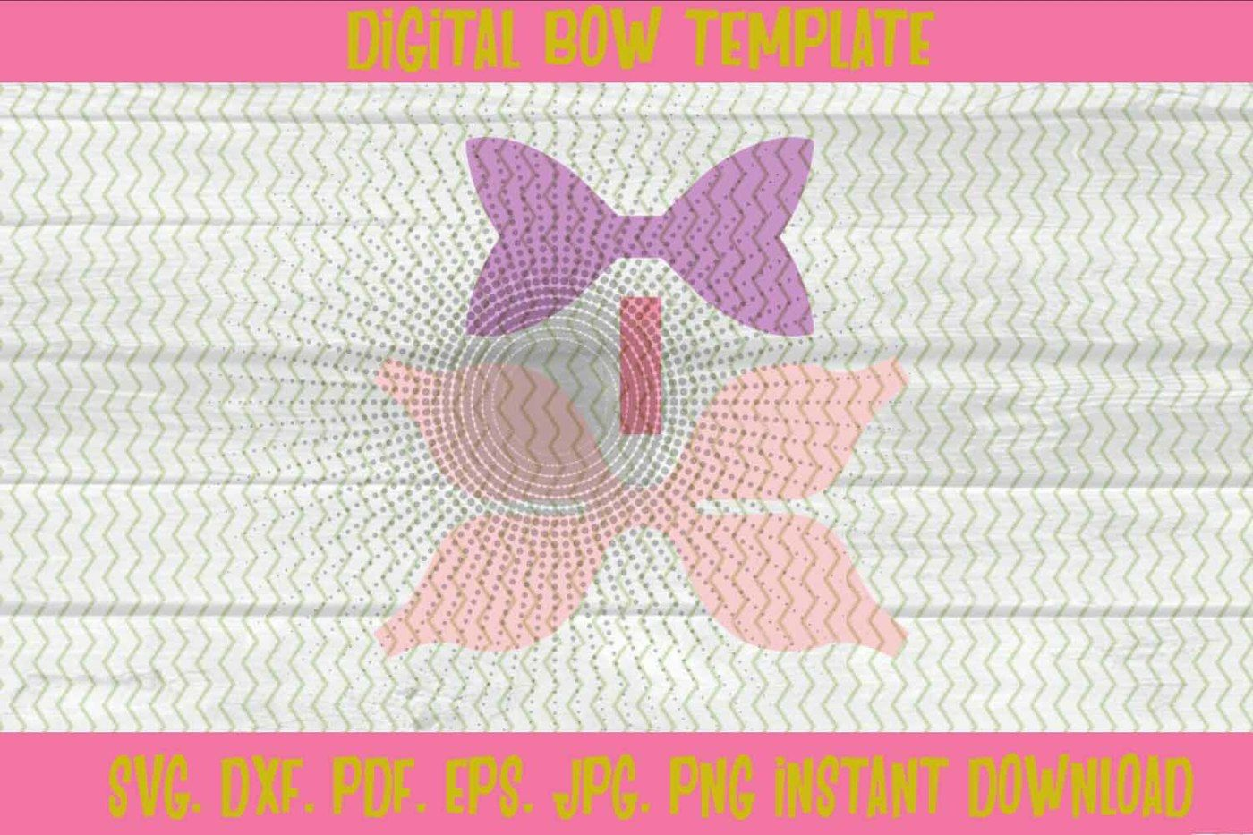 3d Hair Bow Template Svg Dxf Pdf Eps Jpg Png By