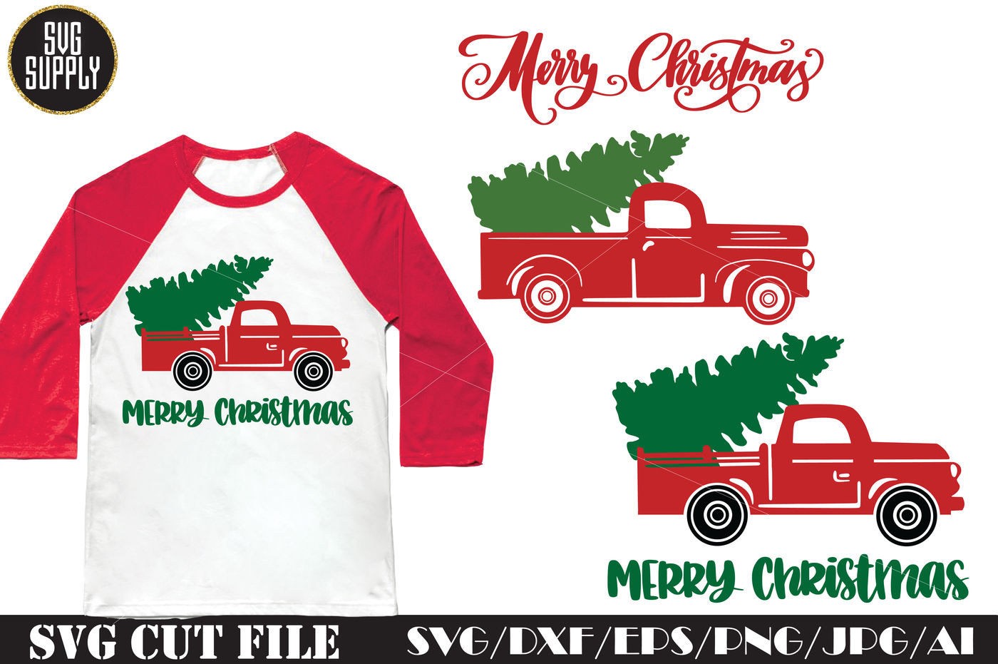 Christmas Truck Svg.Christmas Tree Truck Svg Cut File By Svgsupply