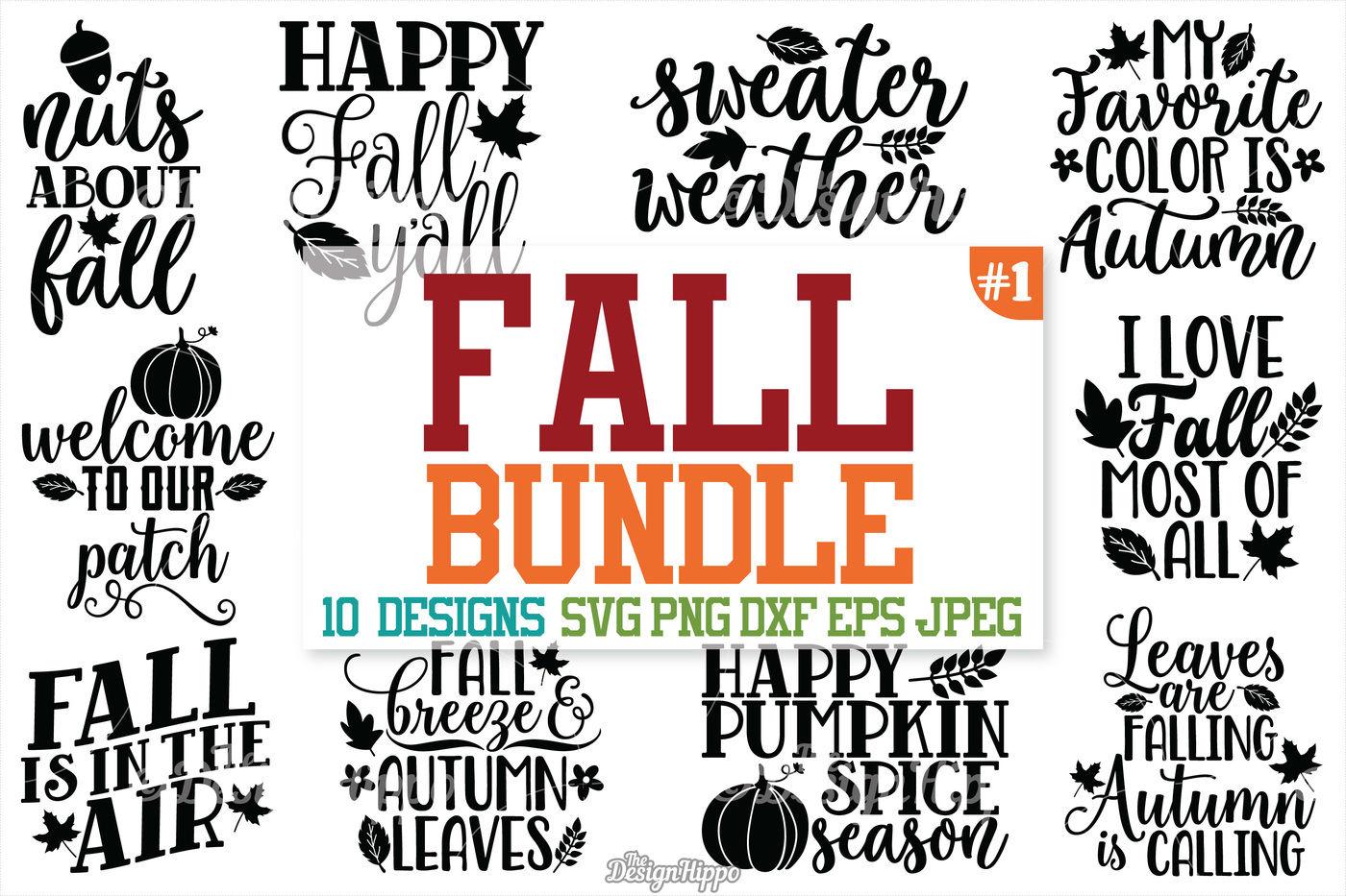 Fall Svg Bundle Autumn Fall Pumpkin Spice Fall Yall Svg Cut