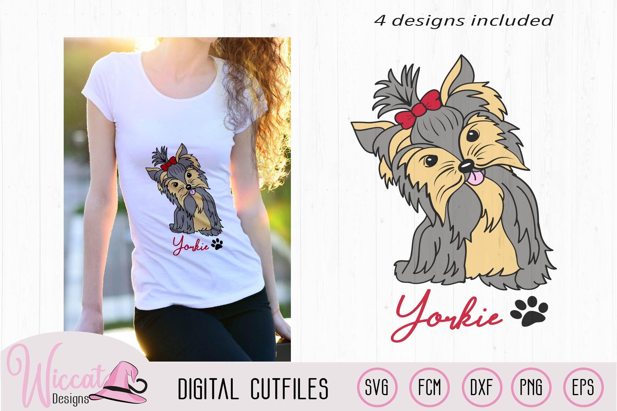 Yorkie Svg Yorkie Color Svg Girl Dog Girly Dog Svg By