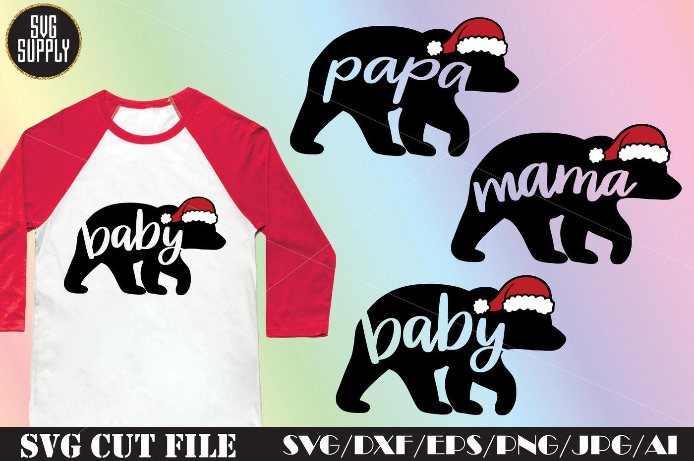 Christmas Bear Family Svg Cut File By Svgsupply Thehungryjpeg Com