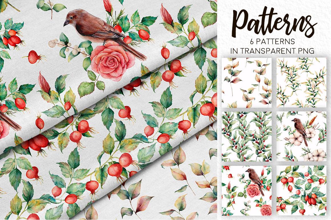 Fall In Love Watercolor Bundle By Yuliya Derbisheva