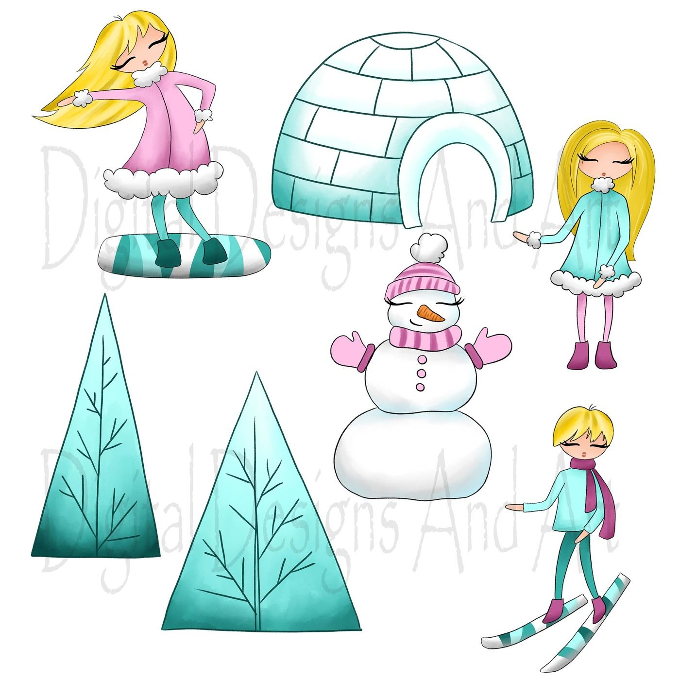 Winter sports clipart By DigitalDesignsAndArt ...