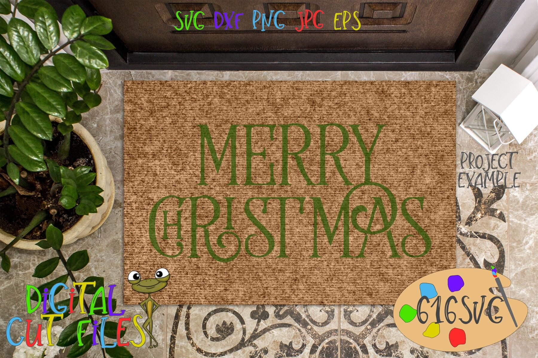 Merry Christmas Svg Dxf By 616svg Thehungryjpeg Com