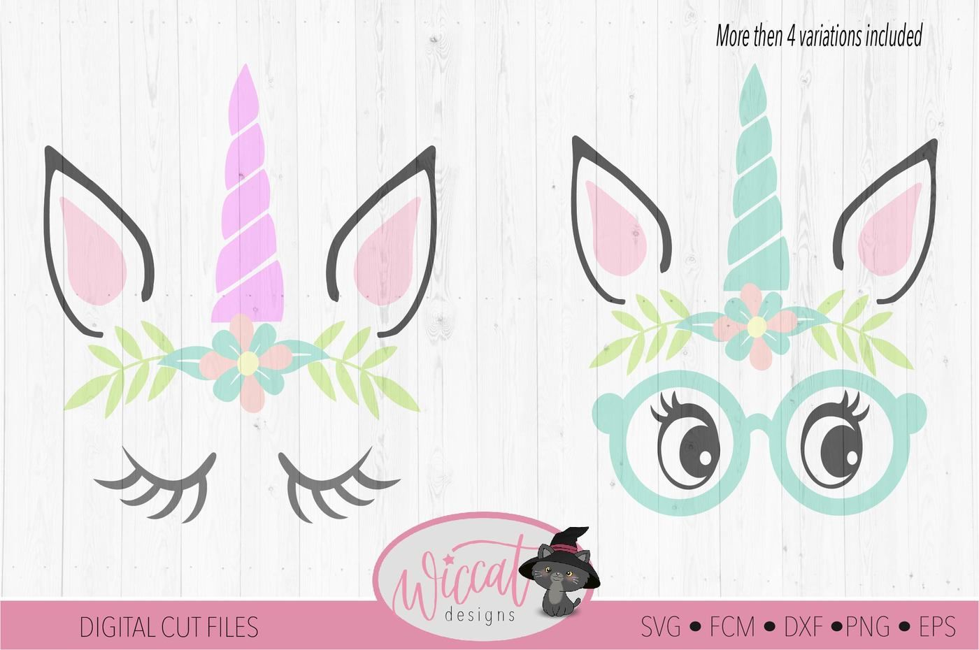 Hipster Unicorn Unicorn Face Svg Unicorn Glasses Svg Face Svg