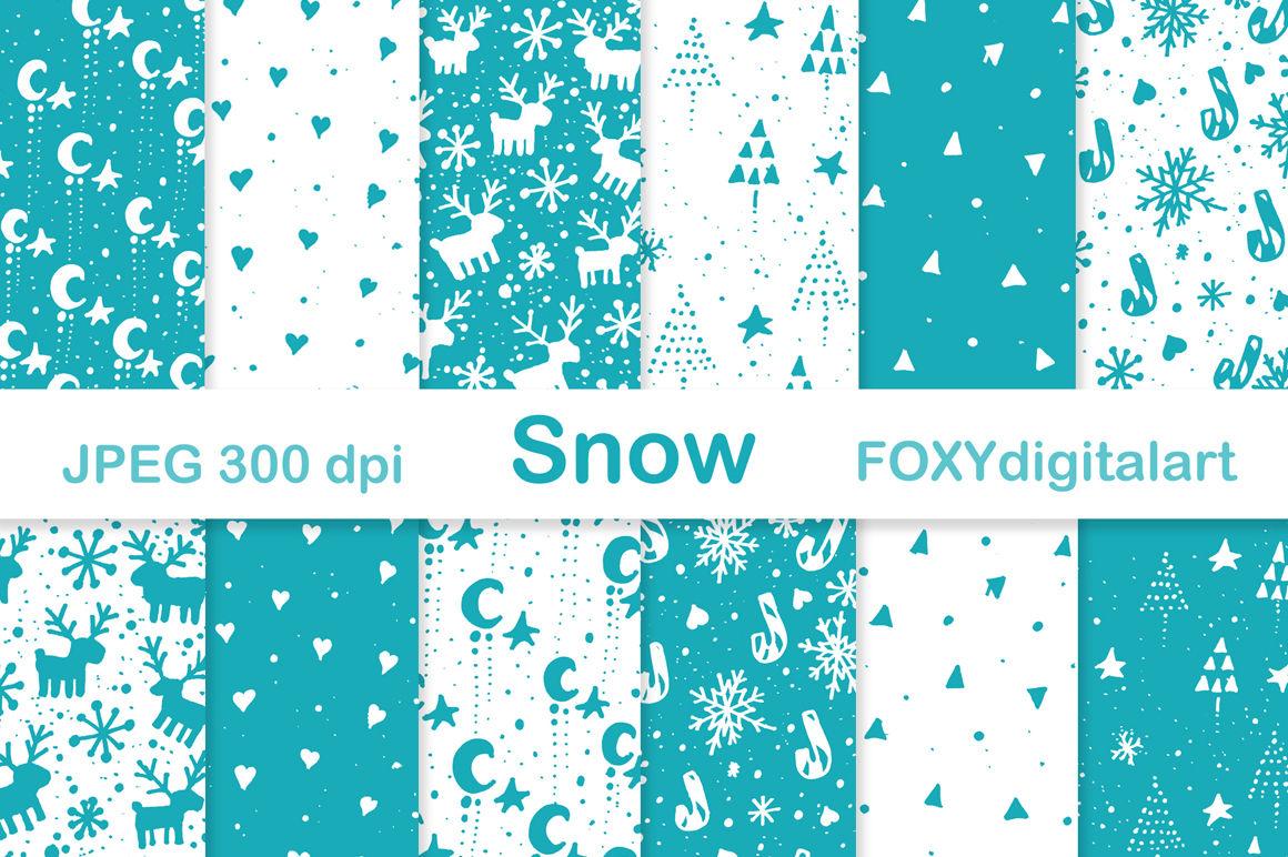 Christmas Holiday Scrapbook Digital Paper By Foxydigitalart