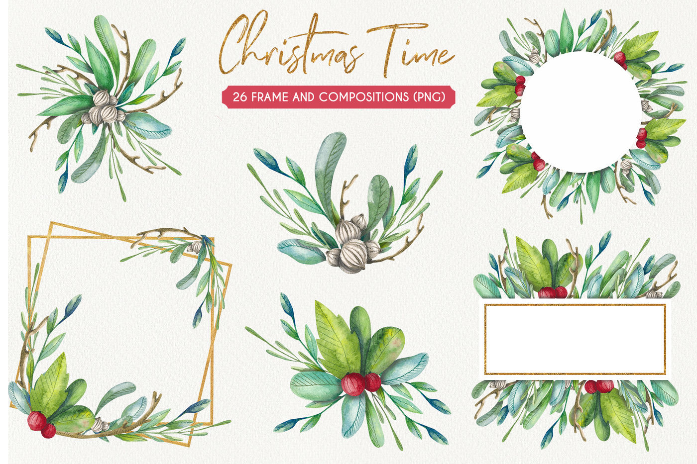 Christmas Time Watercolor Set By Watercolor Arts