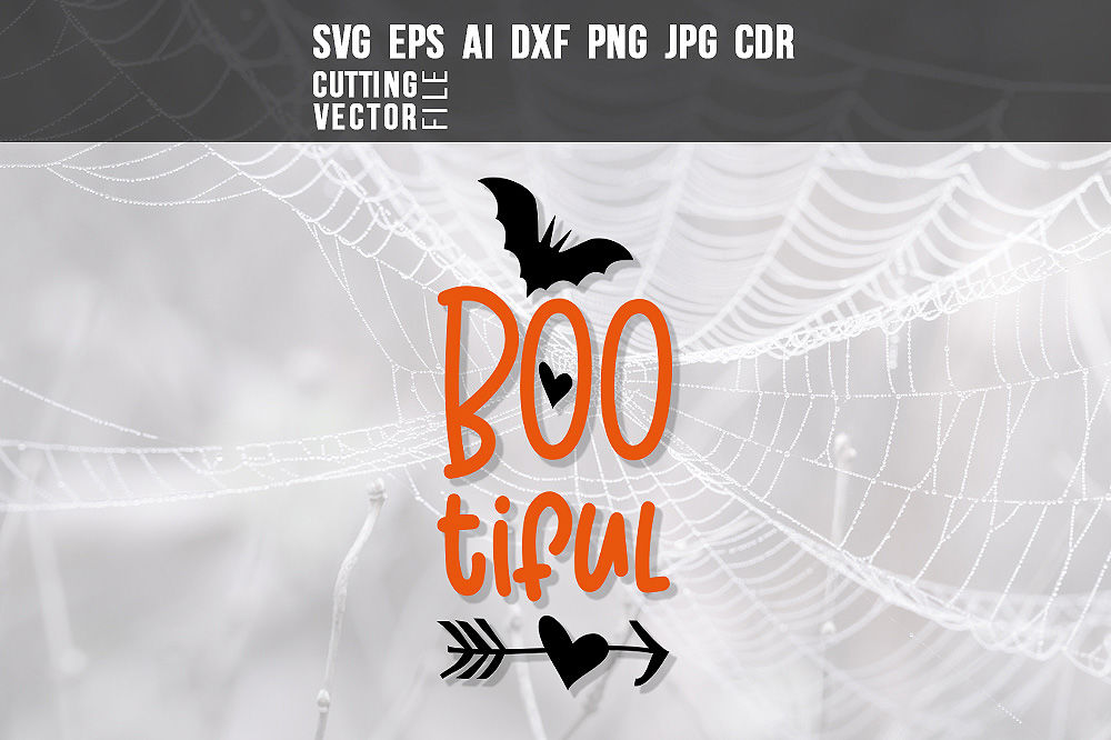 Bootiful Svg Eps Ai Cdr Dxf Png Jpg By Craftartshop Thehungryjpeg Com